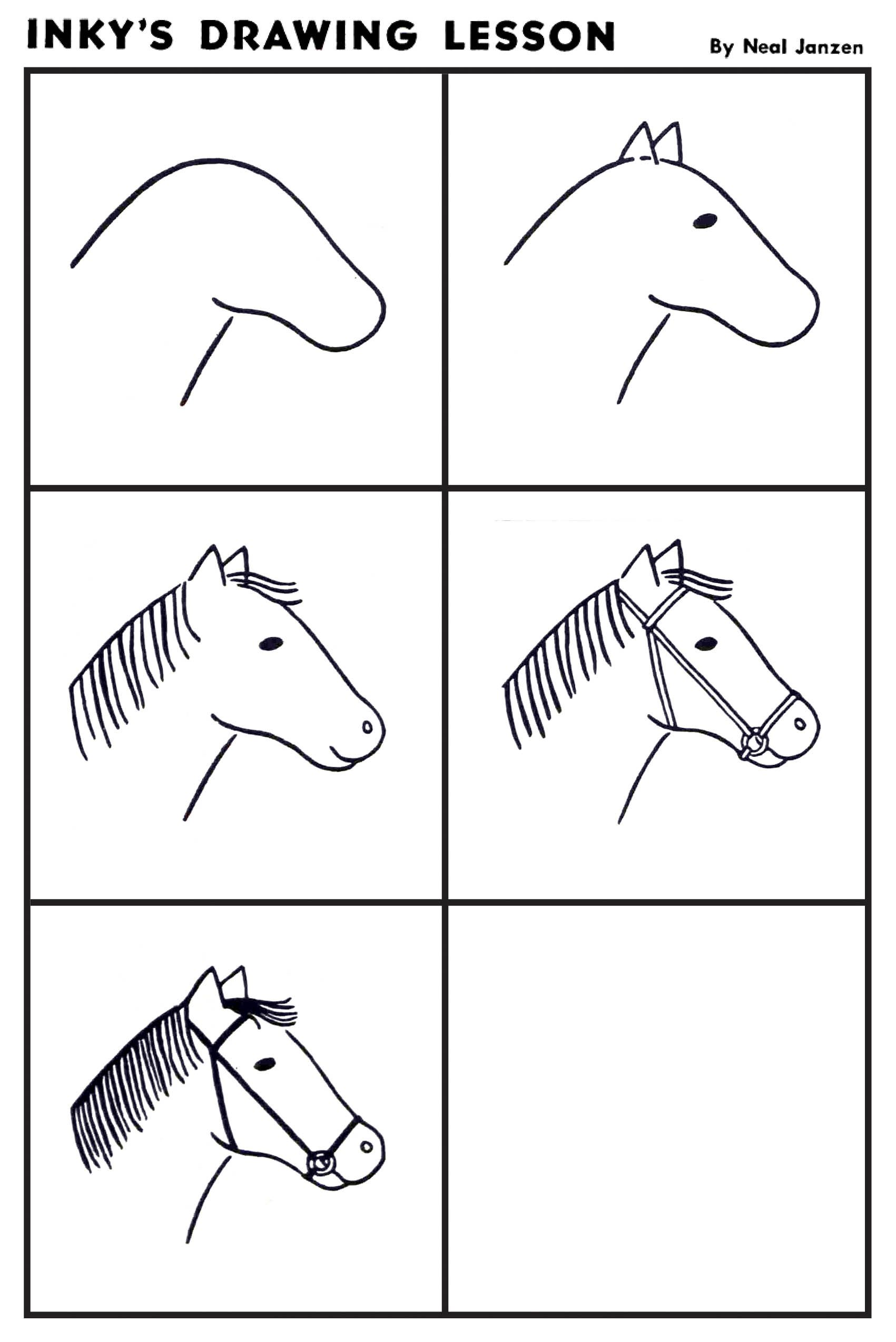 Inky S Drawing Lesson Horse
