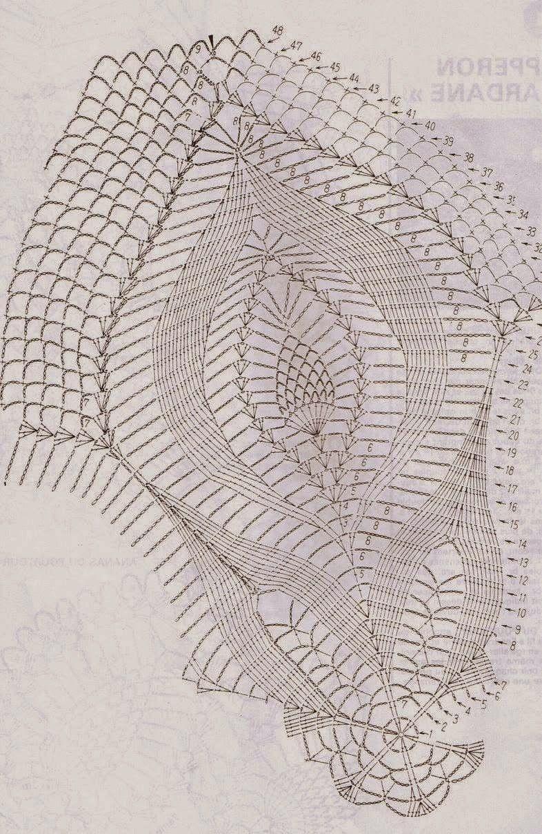 Deckchen im großen Ananasmuster | Häkeln 1 | Pinterest | Deckchen ...