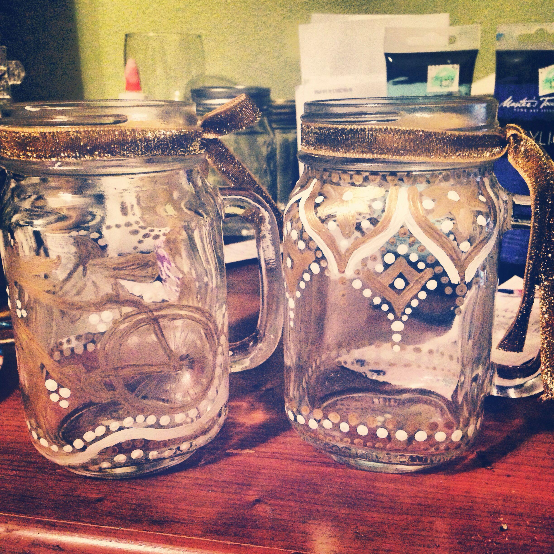 Painted Mason Jars Hobbylobby With Images Painted Mason Jars Mason Jar Crafts Jar Crafts