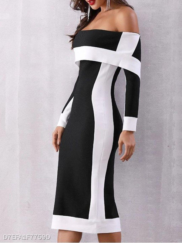 20 Newest Open Shoulder Dresses Ideas For This Summer Strapless Long Sleeve Dress Dresses Cheap Bodycon Dress [ 1365 x 1024 Pixel ]