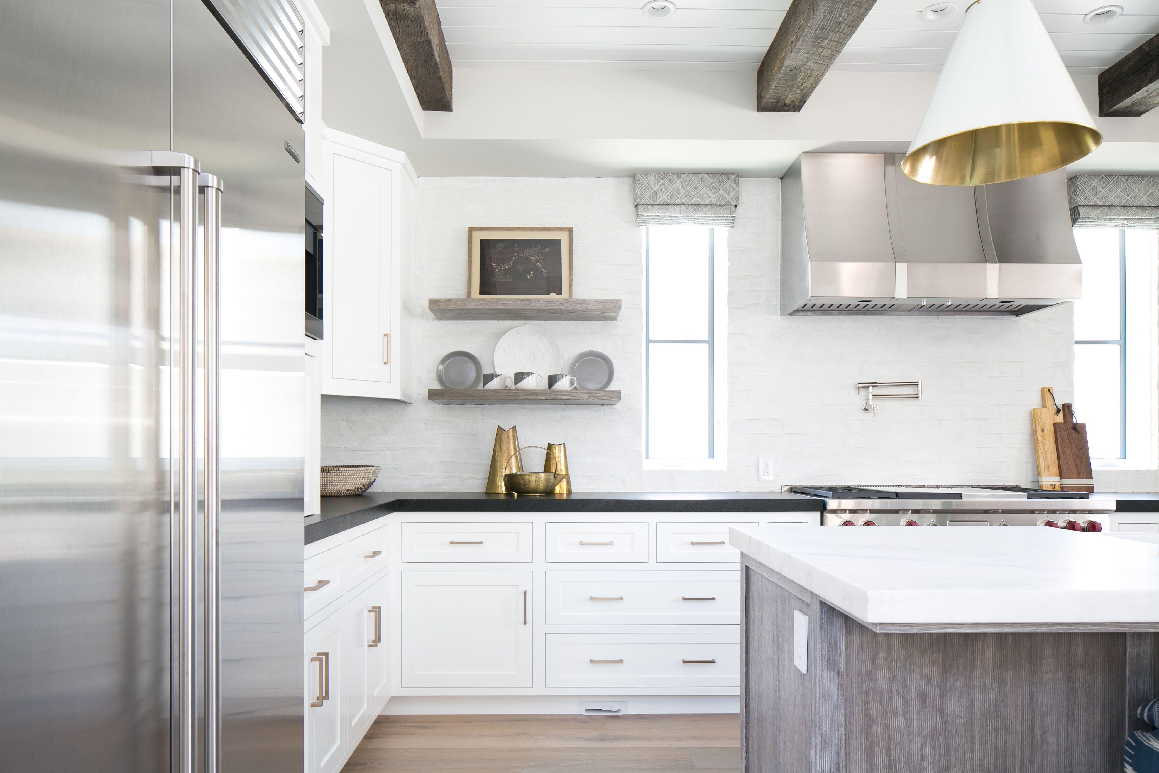 Best Kitchen White Kitchen Reclaimed Wood Beams Built In 640 x 480