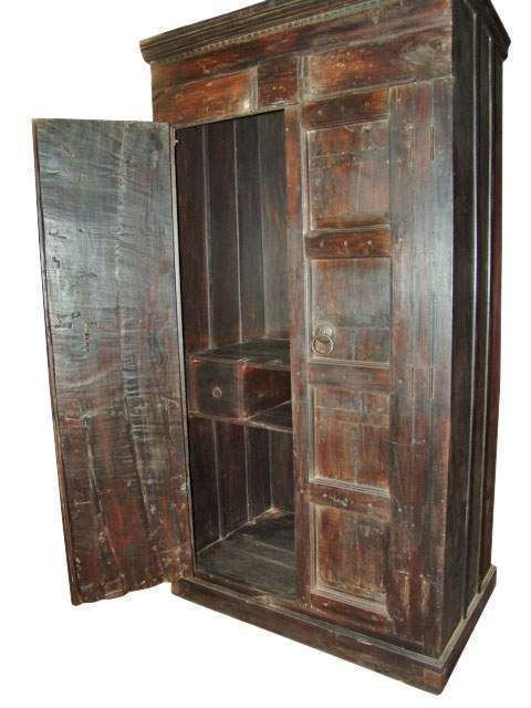 Indian Antique Armoire, Old Door Armoire Cabinet Furniture From India