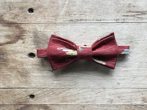 Bow Tie Mens NEW Bowtie Adjustable Dickie SHIMMERY TEXTURED DARK RED
