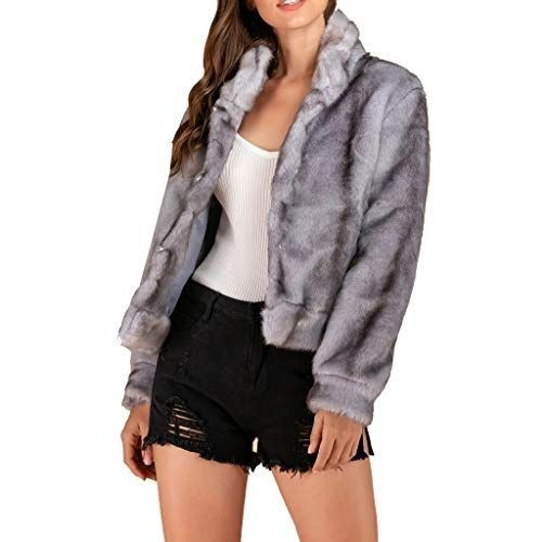 best service bf027 5b96d Plot Damen Faux Pelz Mantel Kurz Winter Elegant Warm ...