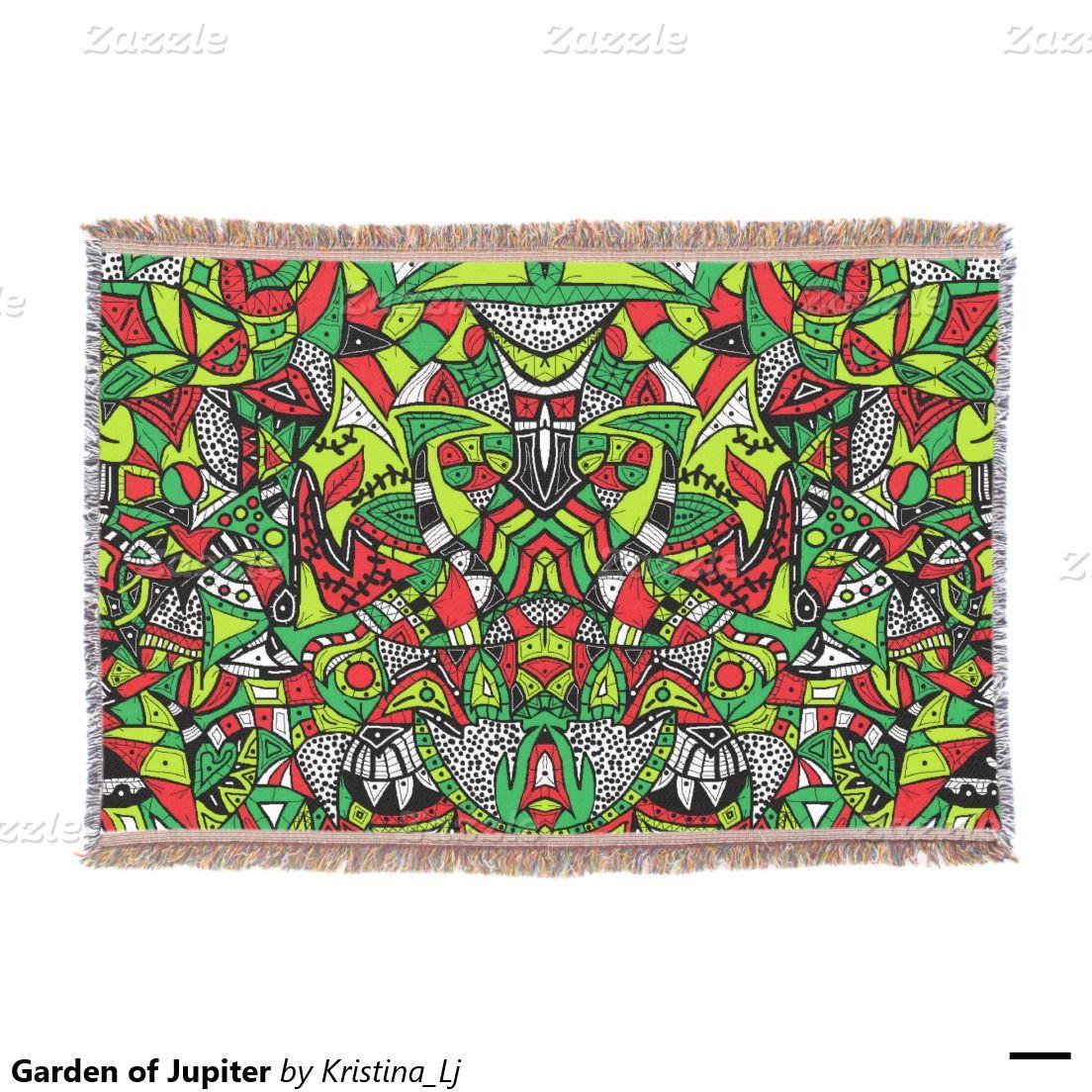 Garden of Jupiter Throw