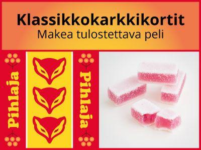 Kuvassa on Pihlaja-marmeladien kääre ja marmeladeja ilman käärettä.