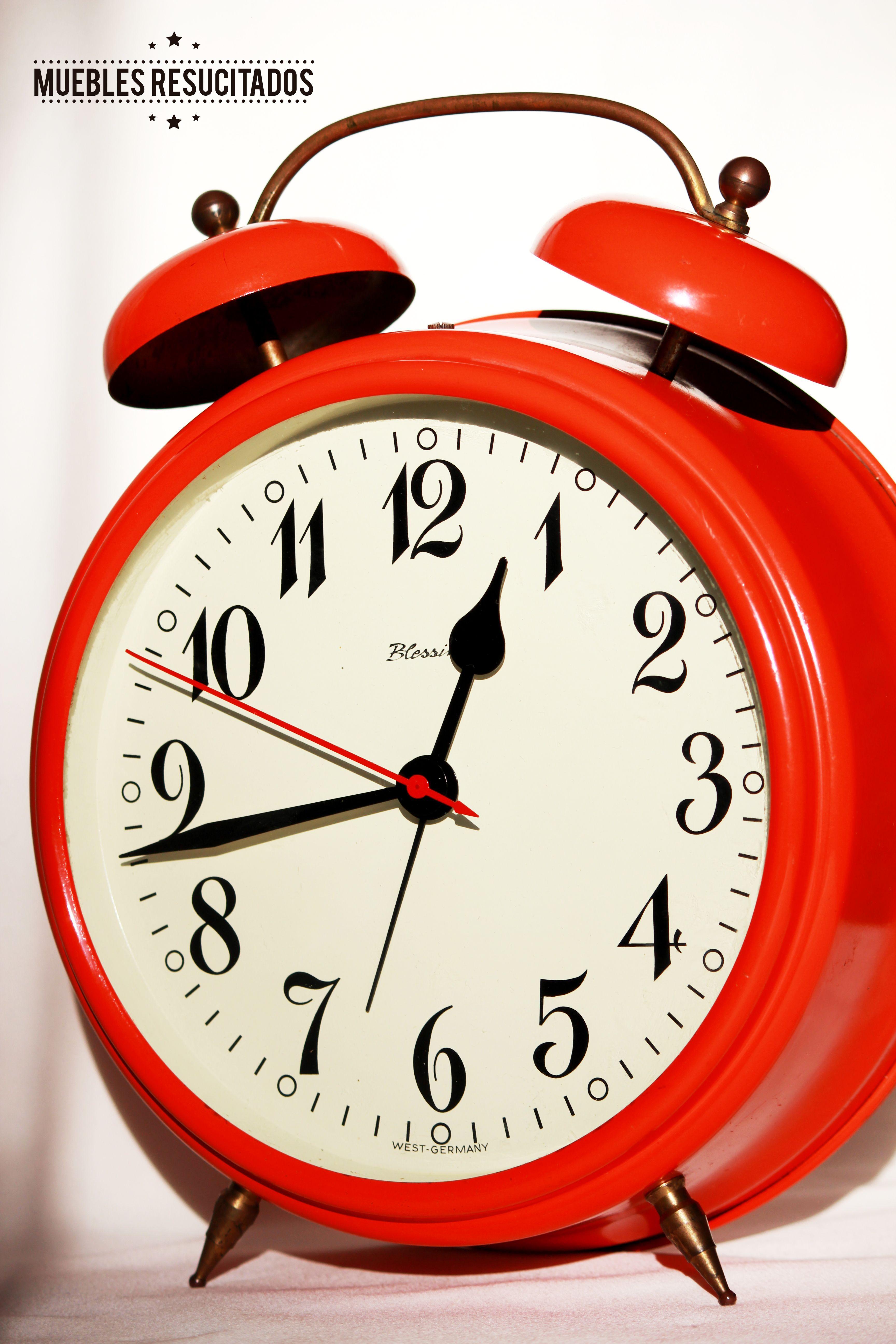 Reloj Despertador Alem N Original De Los A Os 60 Marca Blessing Y  # Caimana Muebles Y Decoracion