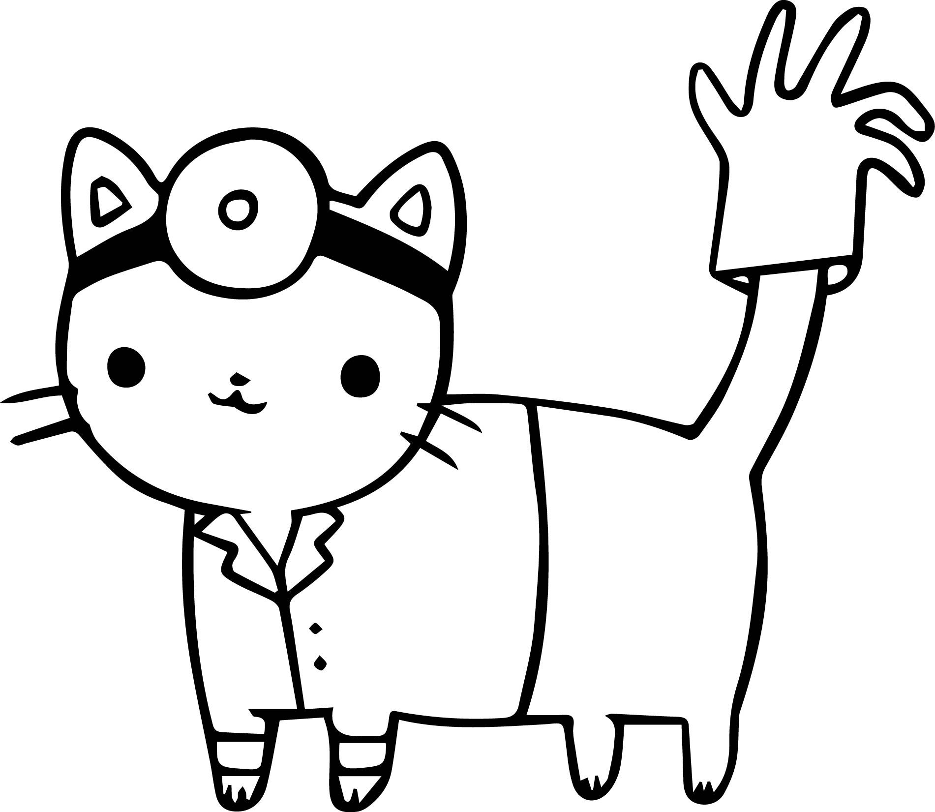 Nice Doctor Cat Coloring Page Doctor Cat Cat Coloring Page