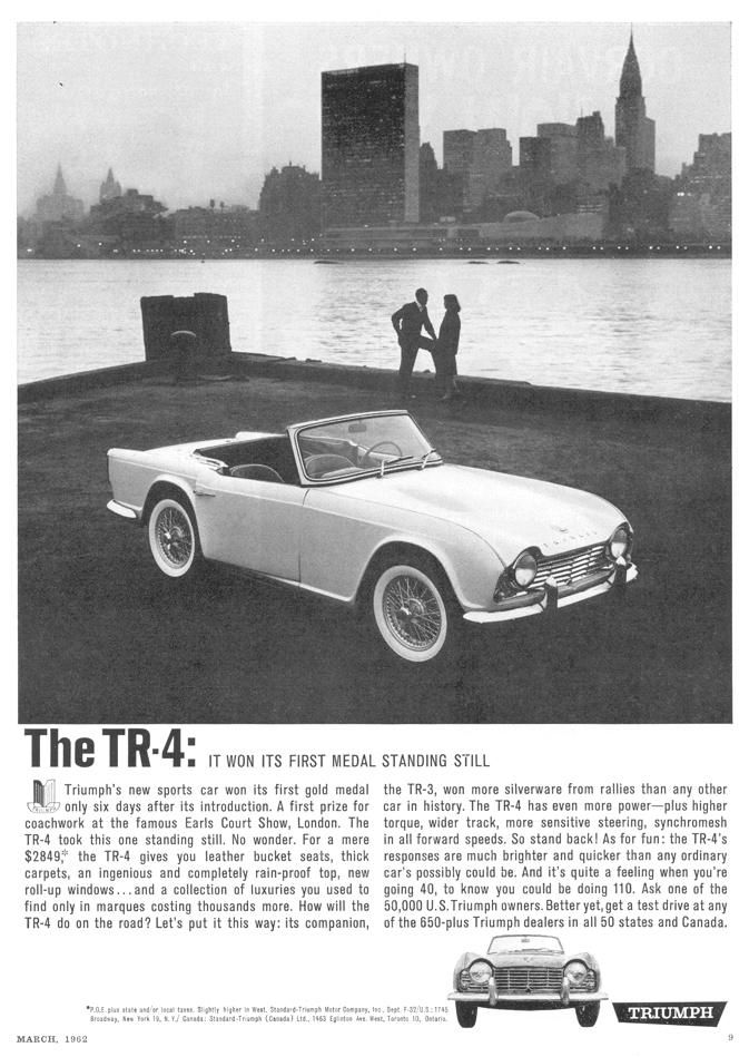 "Triumph TR4 ""It won its first medal standing still"""