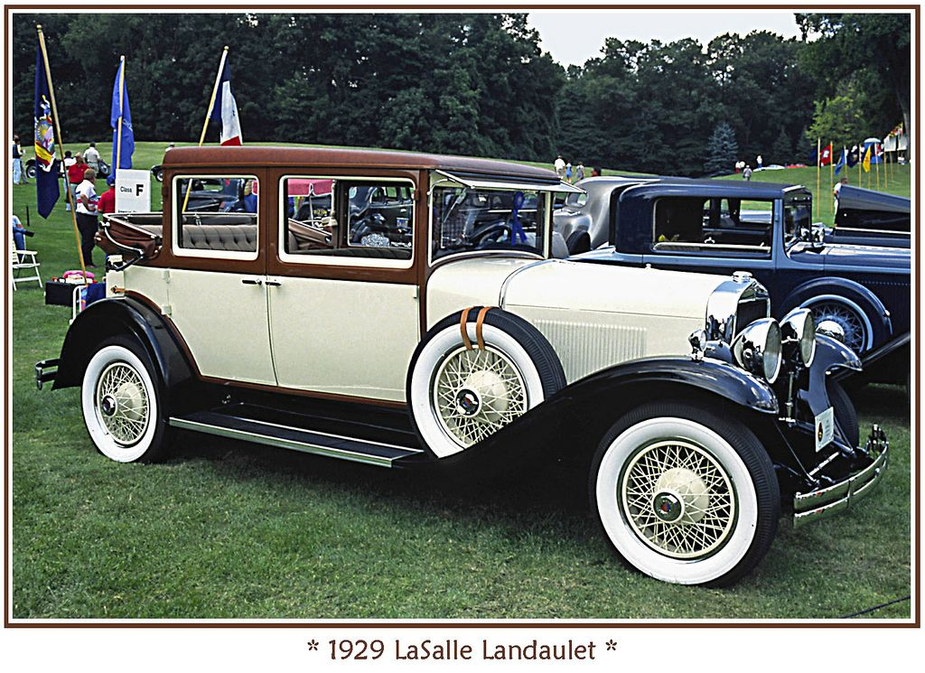 1929 Lasalle Landaulet Cadillac Lasalle Pinterest
