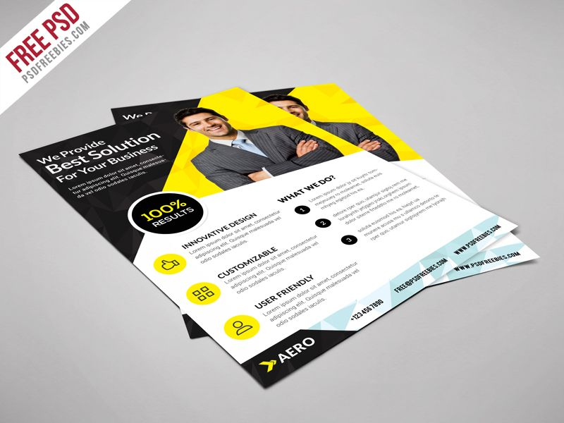Multiuse Corporate Business Flyer Free Psd  Business Flyers