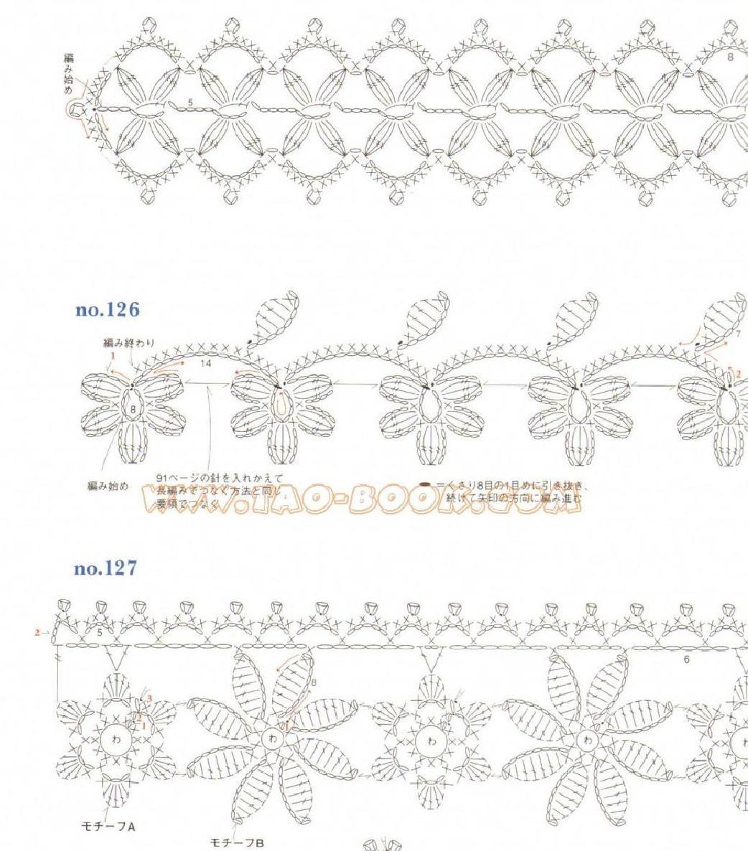 Motifs Ondori et dessins de bordure   – Häkelanleitung