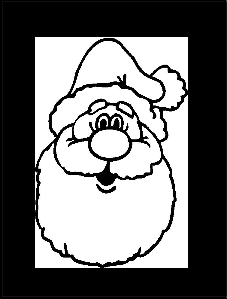 Imagen de Santa | Imagen para colorear | Pinterest | Colorear ...