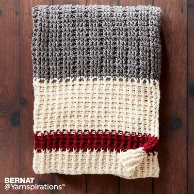 Lumberjack Crochet Throw, Crochet Pattern, Bernat | Yarnspirations ...