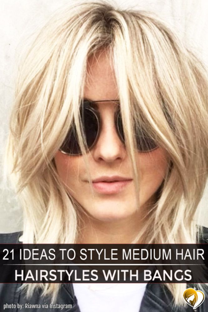 Medium length hairstyles with bangs are the true salvation for ladies who wish to have a trendy and flattering hairstyle at the same time. Besides, this length offers a big number of advantages. Click to see our gallery.