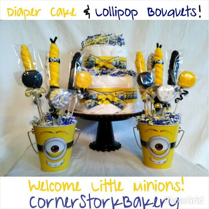 Minion Baby Diaper Cake See My Despicable Me Minions Pins