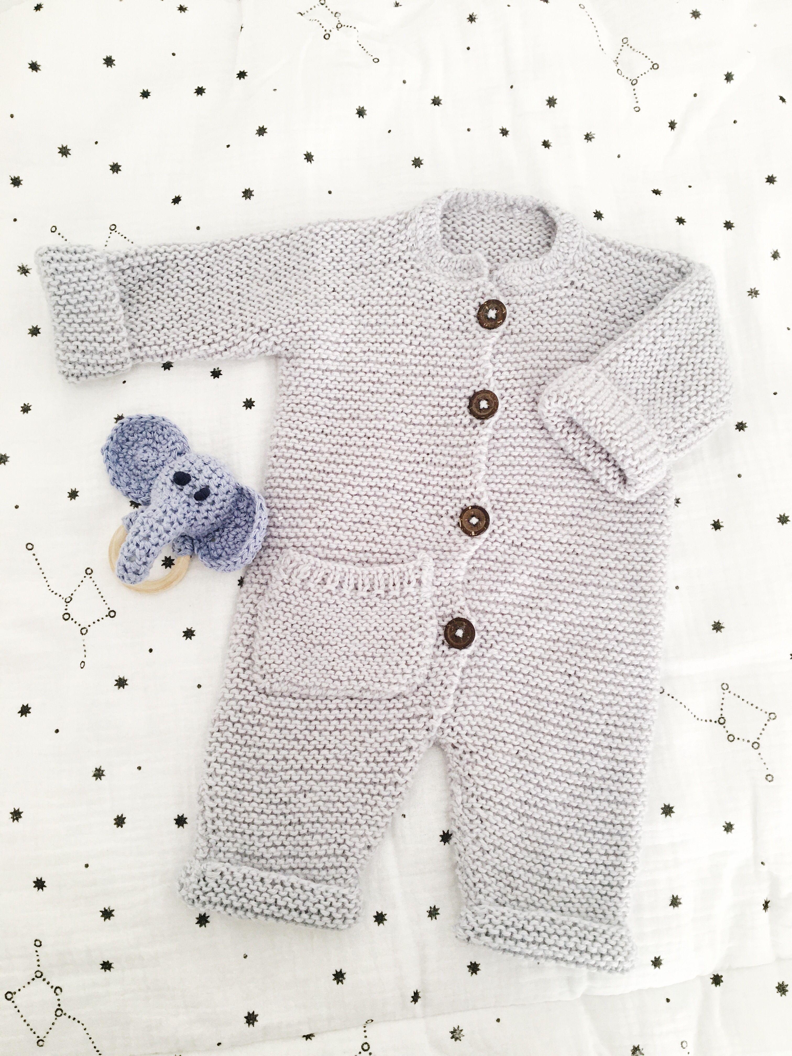 Tricoter une combinaison tendance pour bébé ( Modèle gratuit )