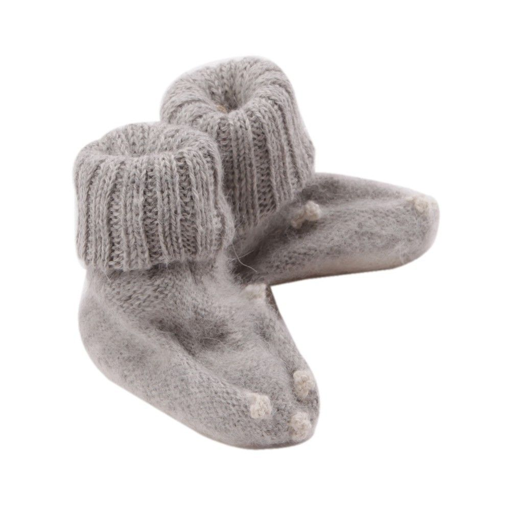 OEUF NYC Rabbit slippers Light grey