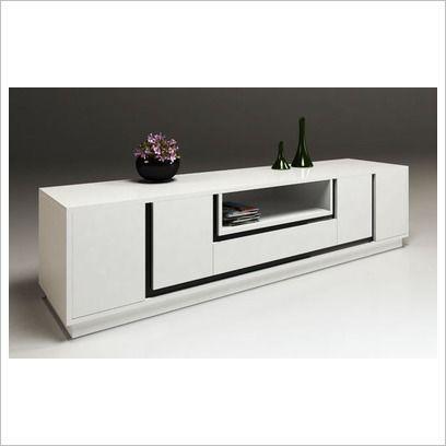 DGC Lauren Media Centre in High Gloss White Dare Global Furniture