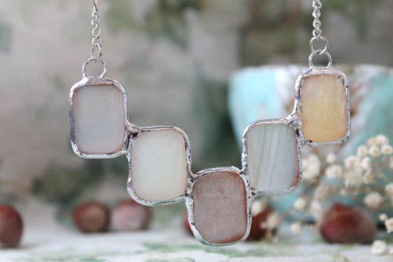 Necklace Ice Natural stones tin  silver hardware от ArtLadyShop, $66.00