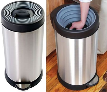 Home Trash Compactor smush can self-powered compacting trashcan | for the home