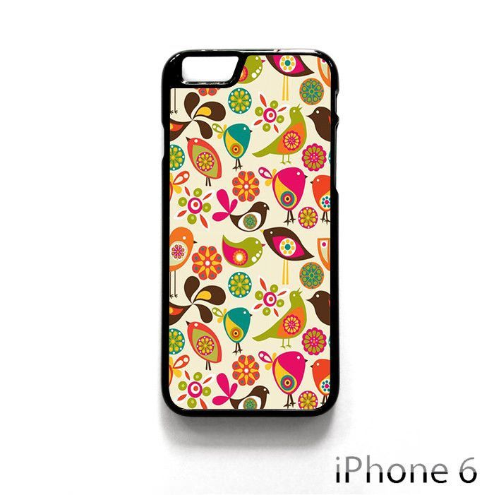 pattern bird flower cute for iPhone 4/4S/5/5C/5S/6/6 Plus