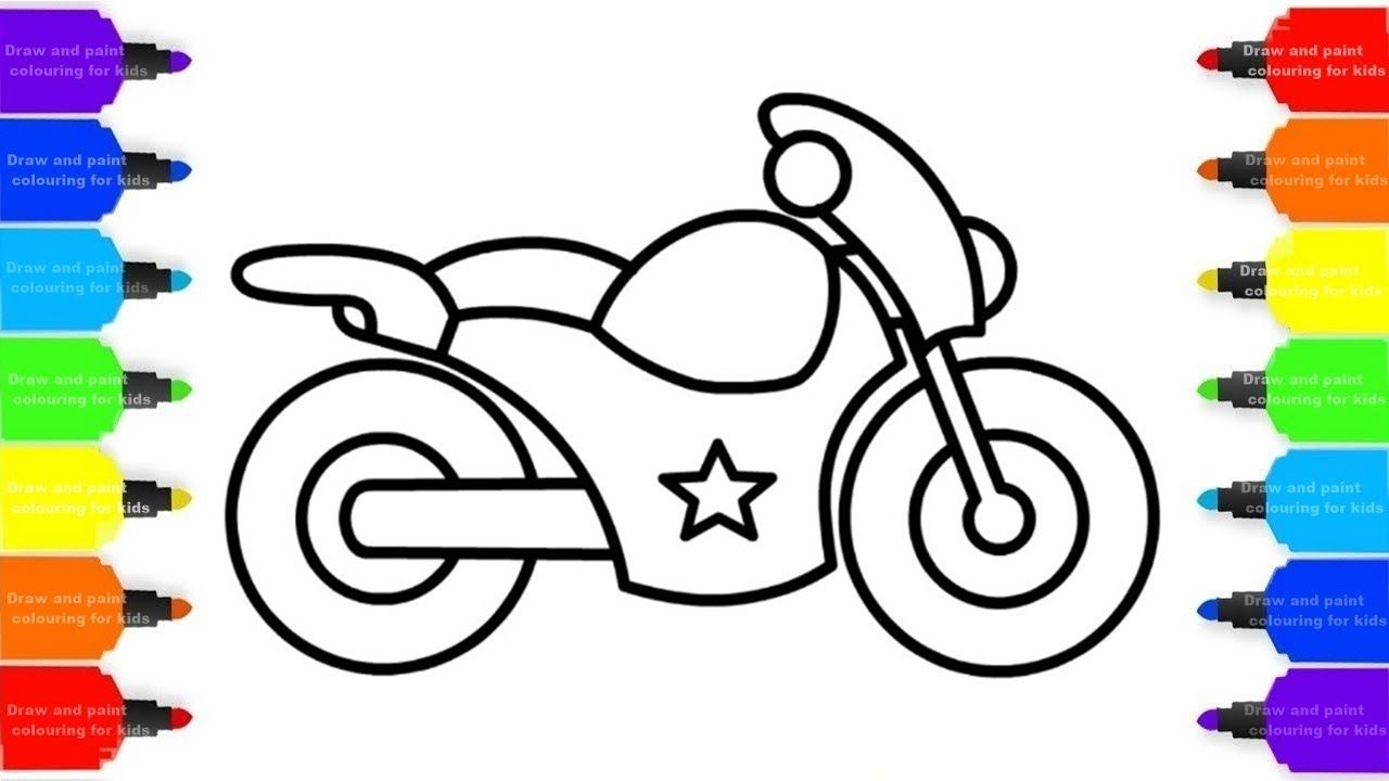 How To Draw A Motorcycle Easy Step By Step Coloring Pages For