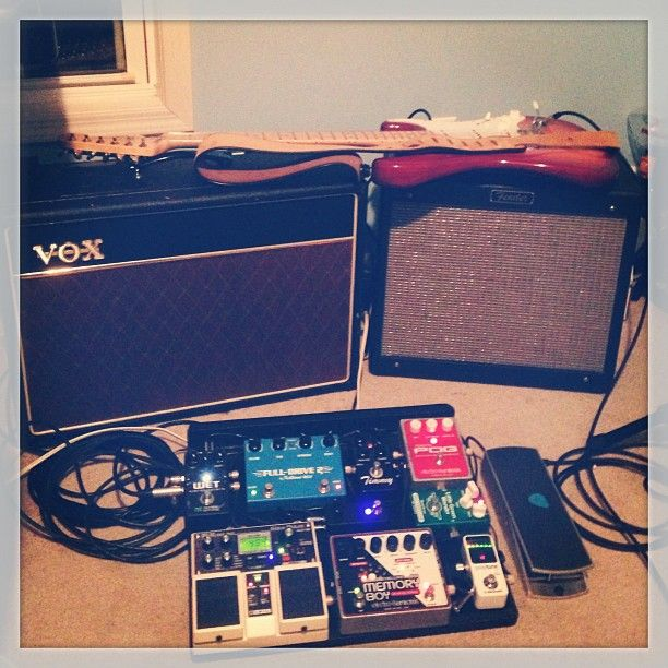 johnnpratt 39 s setup strat blues junior vox ac15 and a lovely selection of pedals nice. Black Bedroom Furniture Sets. Home Design Ideas