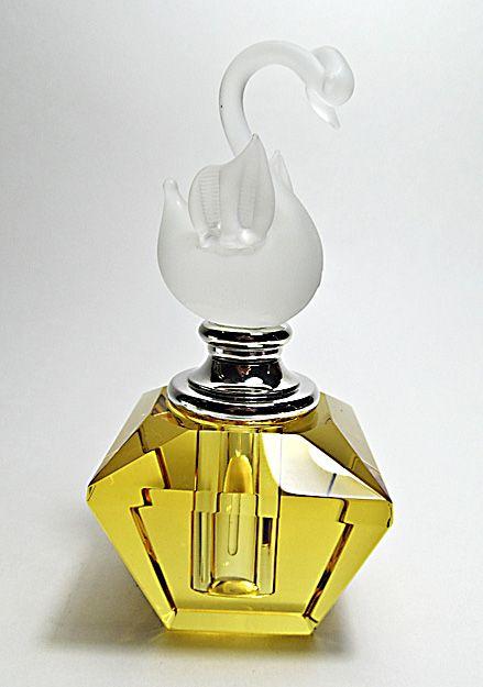 Vintage Crystal Perfume Bottle, Made In