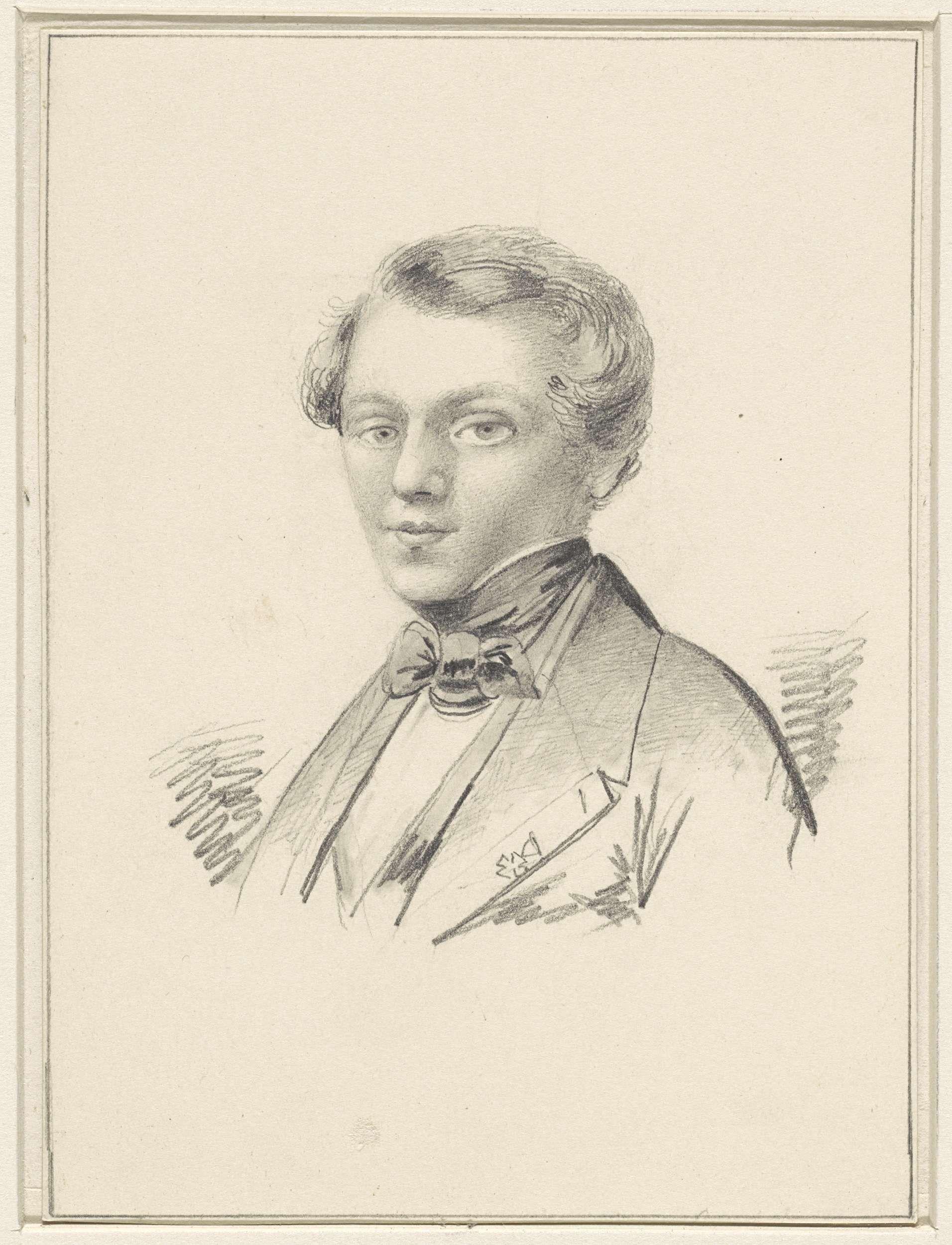 Hermanus J. Slothouwer | Zelfportret van Hermanus J. Slothouwer, Hermanus J. Slothouwer, 1819 - 1882 |