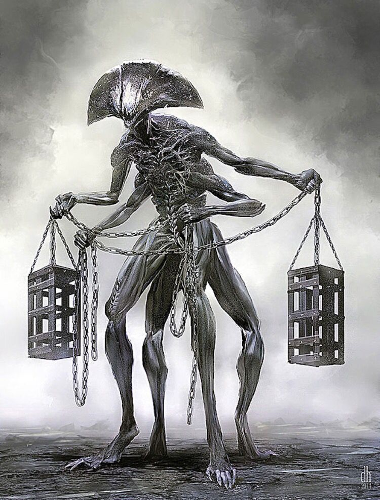 Libra drawn as if it was a monster! A future bad ass tattoo!