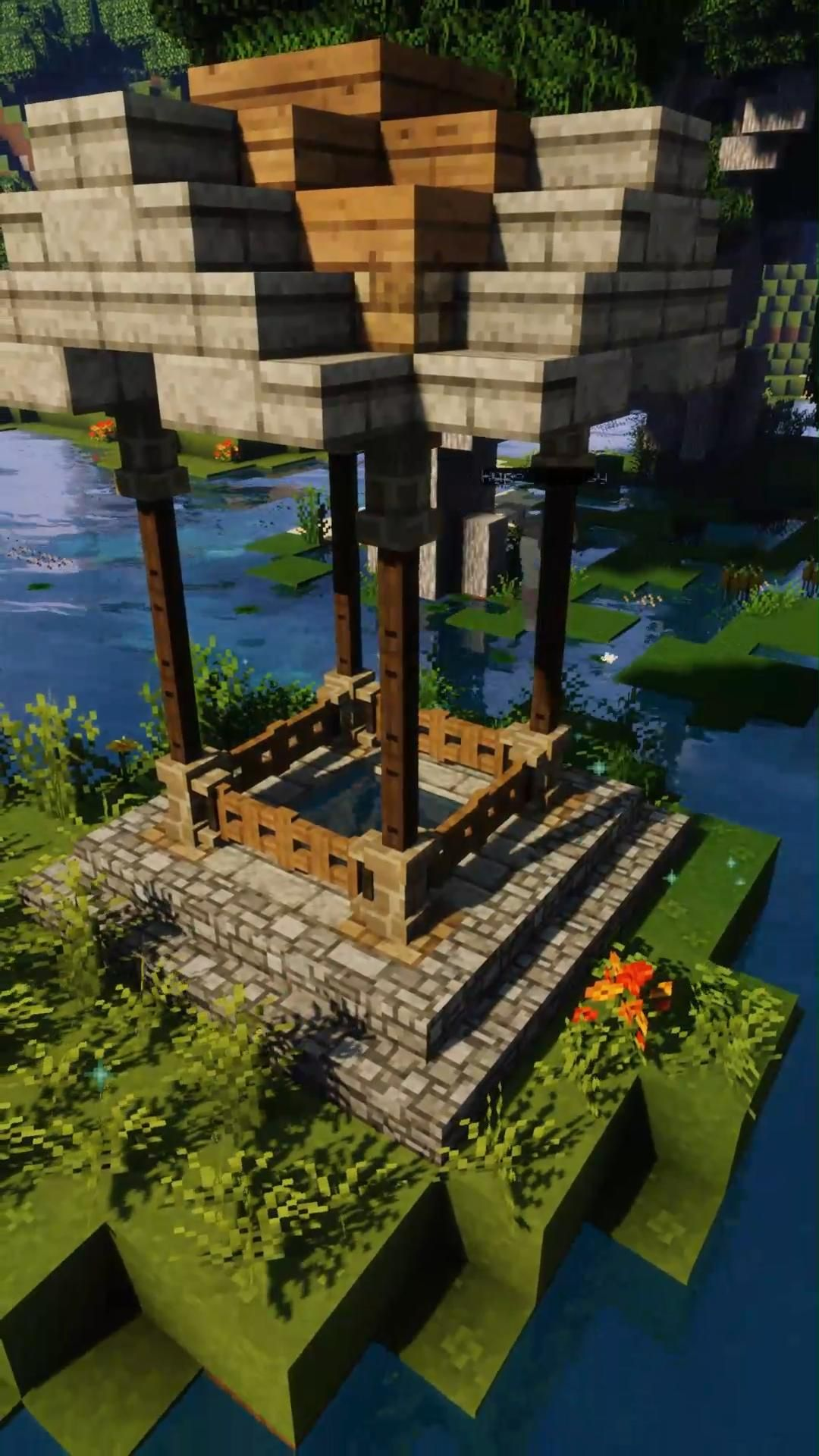 Minecraft Shorts: How to build a Swamp Fountain [T