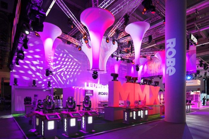 Tradeshow Booth With Lighting Solutions