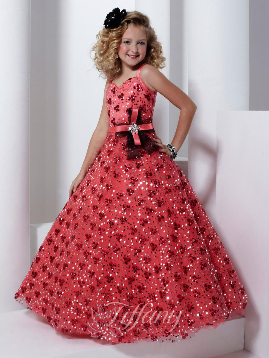 Girls Pageant Dresses by Tiffany 13319 ( without bow!) | Dresses ...