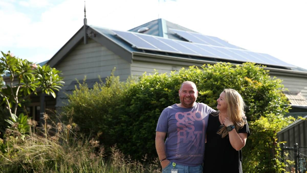 The Williams family have about 20 solar panels, installed