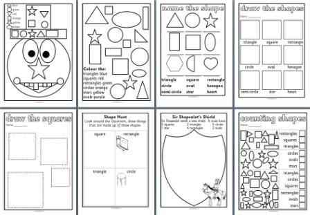 math worksheet : free ks1 maths teaching resources  2d shapes worksheets for  : Math Shape Worksheets