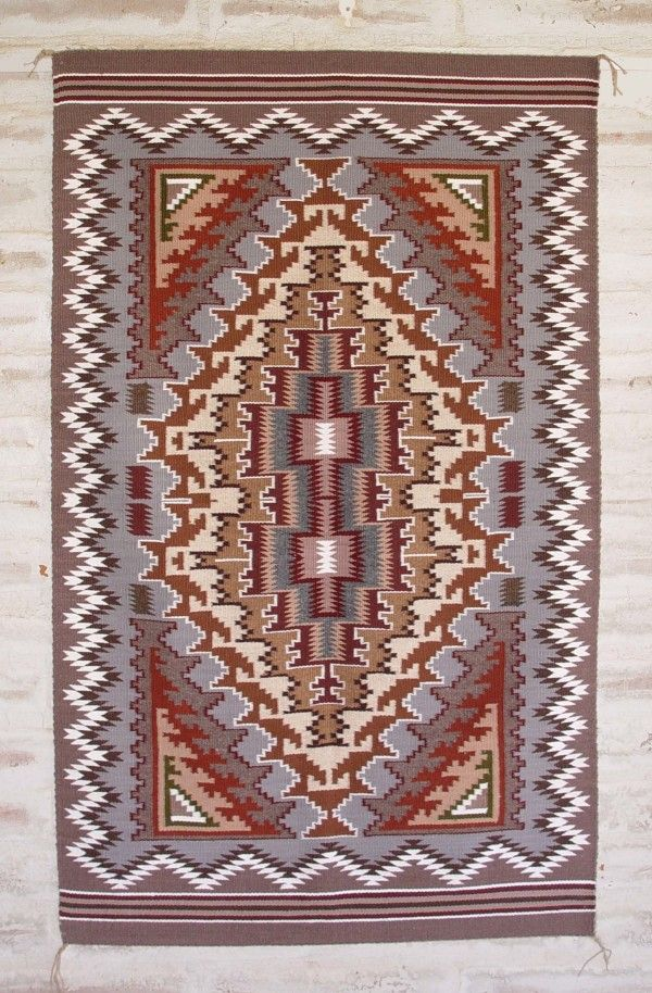 Burner Style Rug Begun 1970s In Palm Springs Combines The Colours Of Chinle