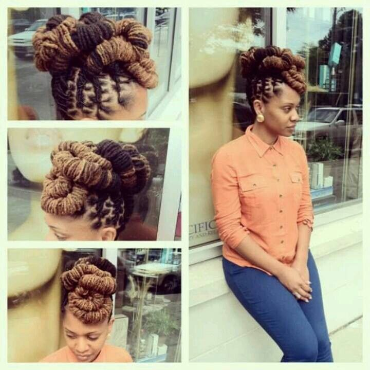 Loc Updo Hairstyles Cute Loc Updo  Color Inspiration  Standout Hairstyles  Pinterest