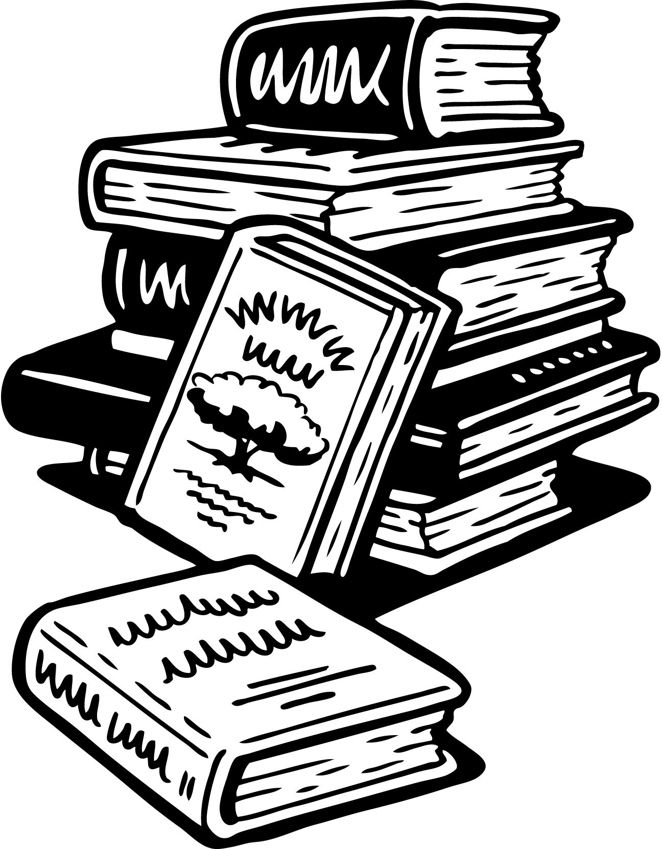 Images For Stack Of Books Cartoon Black And White Clip Art Black And White Book Clip Art Books Cartoon