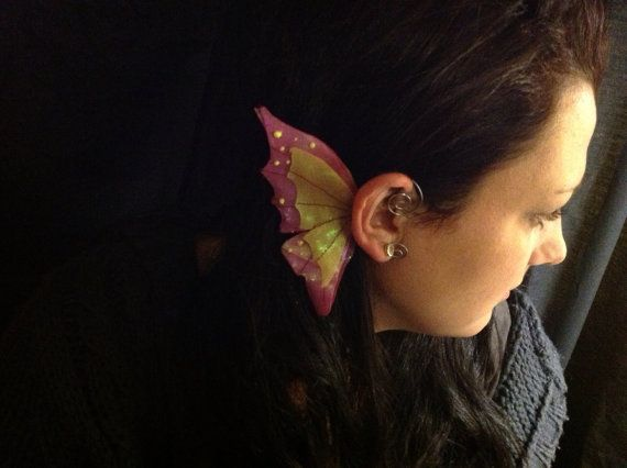 Pink and Yellow Fairy Ear Wings
