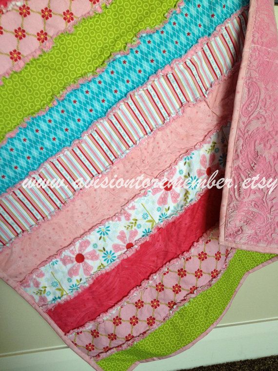 Strip Rag Quilt Sewing Patterns - Simple Quilt Pattern - Easy Quilt ...