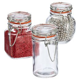 The Container Store 3 Oz Hermetic Glass Jars Glass Jars Jar Containers Holiday Baking