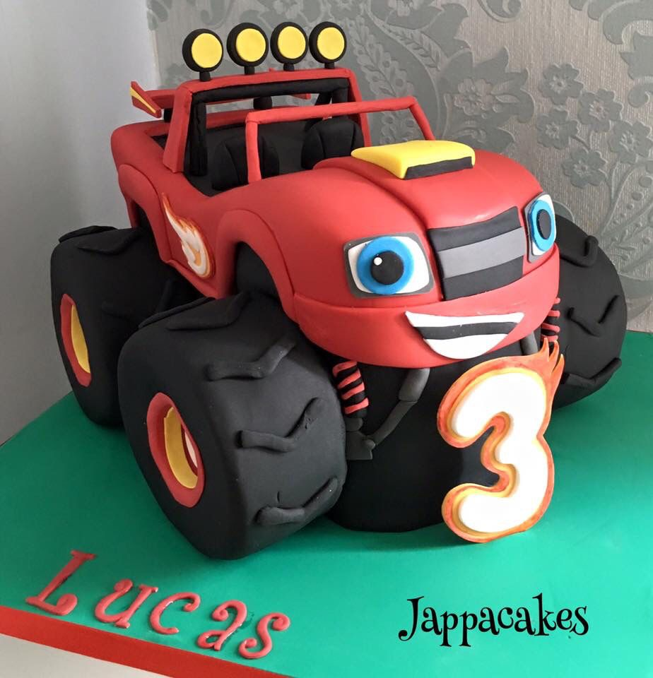 Blaze And The Monster Machines Cake Monster Truck Birthday Cake