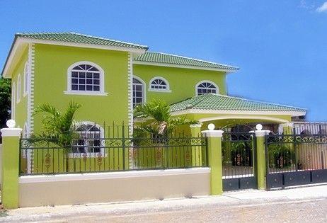 Tonos de verde en 2019 colores para casas exteriores - Pintura para fachadas ...