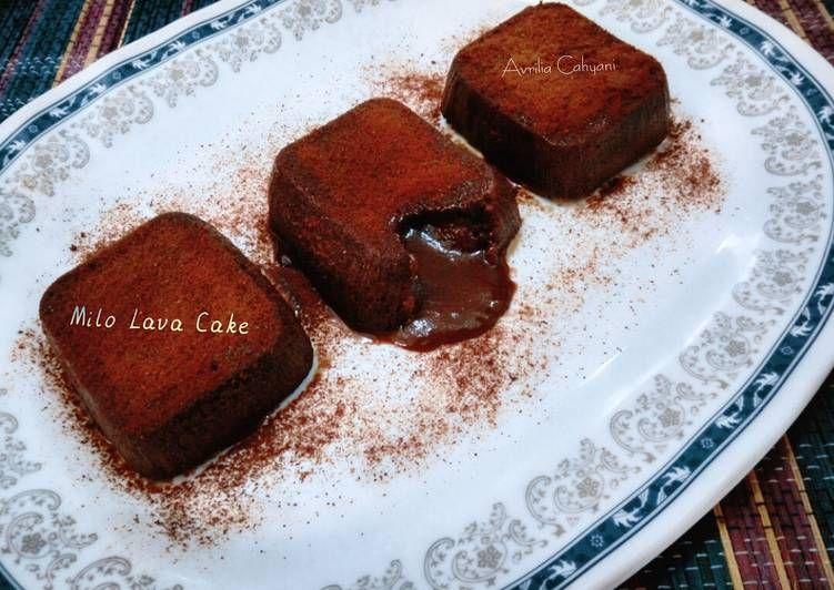 Resep Milo Lava Cake Oleh Avrilia Cahyani Resep Makanan Makanan Manis Ide Makanan