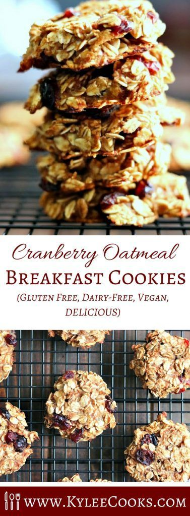 Healthy Cranberry Oatmeal Breakfast Cookies With No Butter Oil