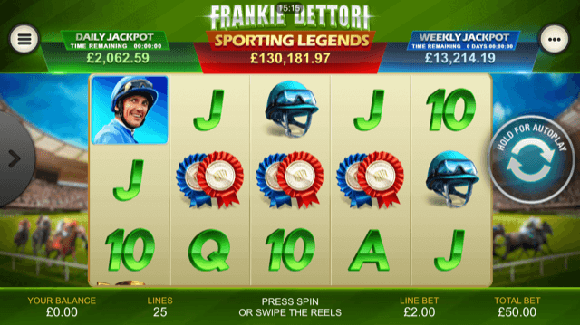 Spiele Frankie Dettori Sporting Legends - Video Slots Online