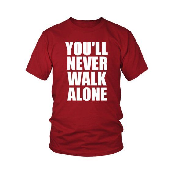 aae2d86e1ce Liverpool Football You ll never walk alone T-shirt - Soccer LFC Jersey by  LFCGADGETS