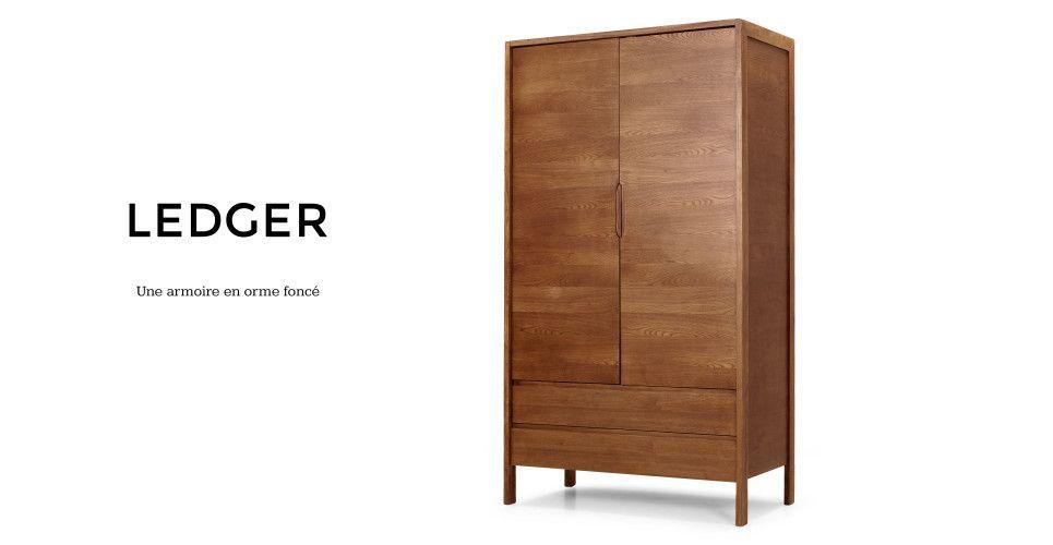 Ledger, une armoire en orme foncé | made.com