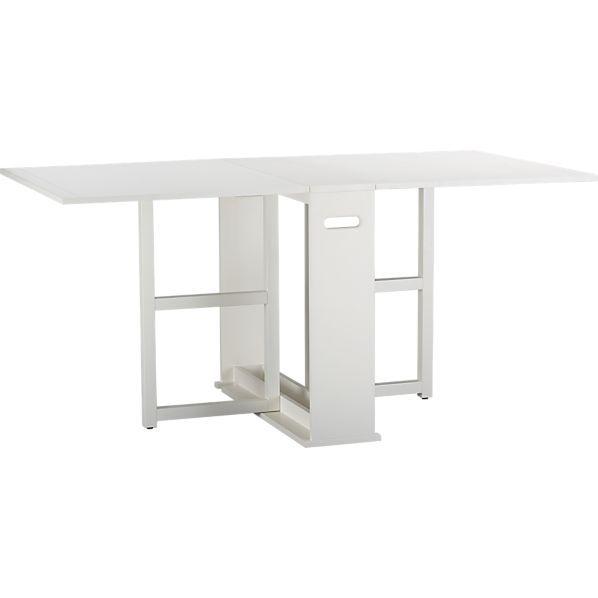 Span White Gateleg Dining Table Remodelista